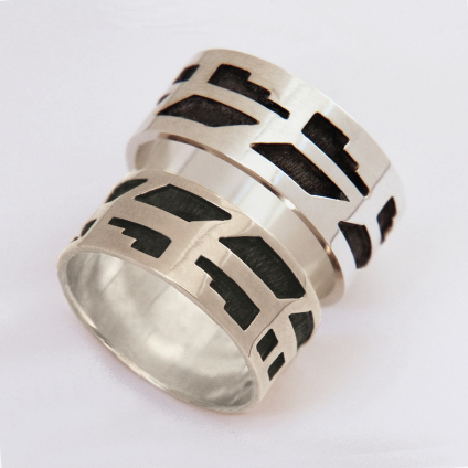 Hopi-style wedding rings Spirit Of The War Eagle