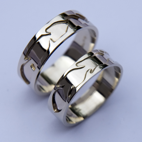 Native American wedding rings Izhinaamowin