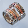 Native American bicolor gold wedding rings The Red Spirit Road