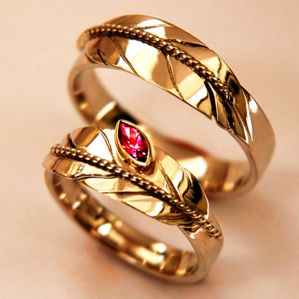 Wedding rings Shkode-waabigonii, N`Zaagiwewin A Flower Of Fire, Our Love
